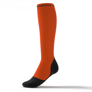 RUNNING ALLROUND SOCKS – orange/schwarz