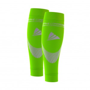 PERFORMANCE CALF SLEEVES – extra strong - grün/silber