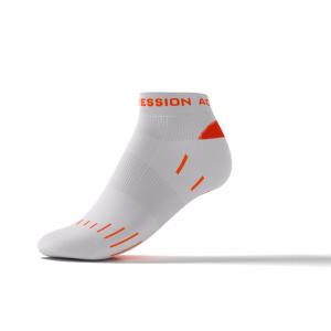 RUNNING SNEAKER LAUFSOCKEN – weiß/orange