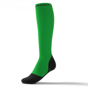 RUNNING ALLROUND SOCKS – grøn/sort