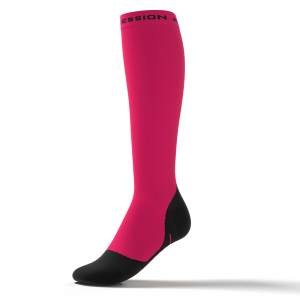 RUNNING ALLROUND SOCKS – pink/sort