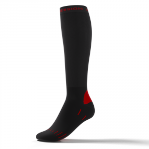 BIKE SOCKS – sort/rød