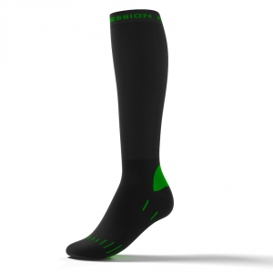 RUNNING ENDURANCE SOCKS – sort/grøn