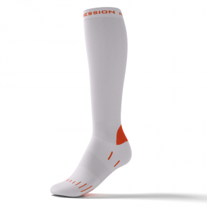 WALKING SOCKS – hvid/orange