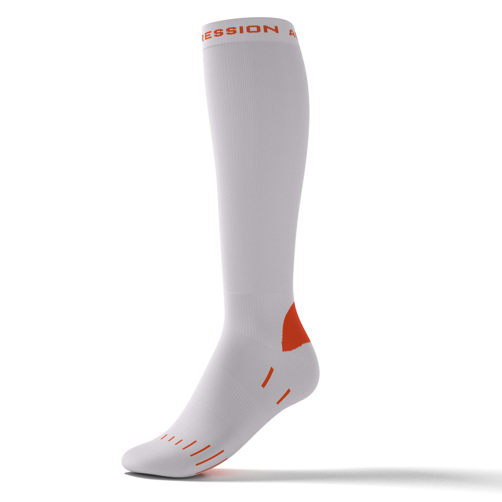 RUNNING ENDURANCE SOCKS – weiß/orange