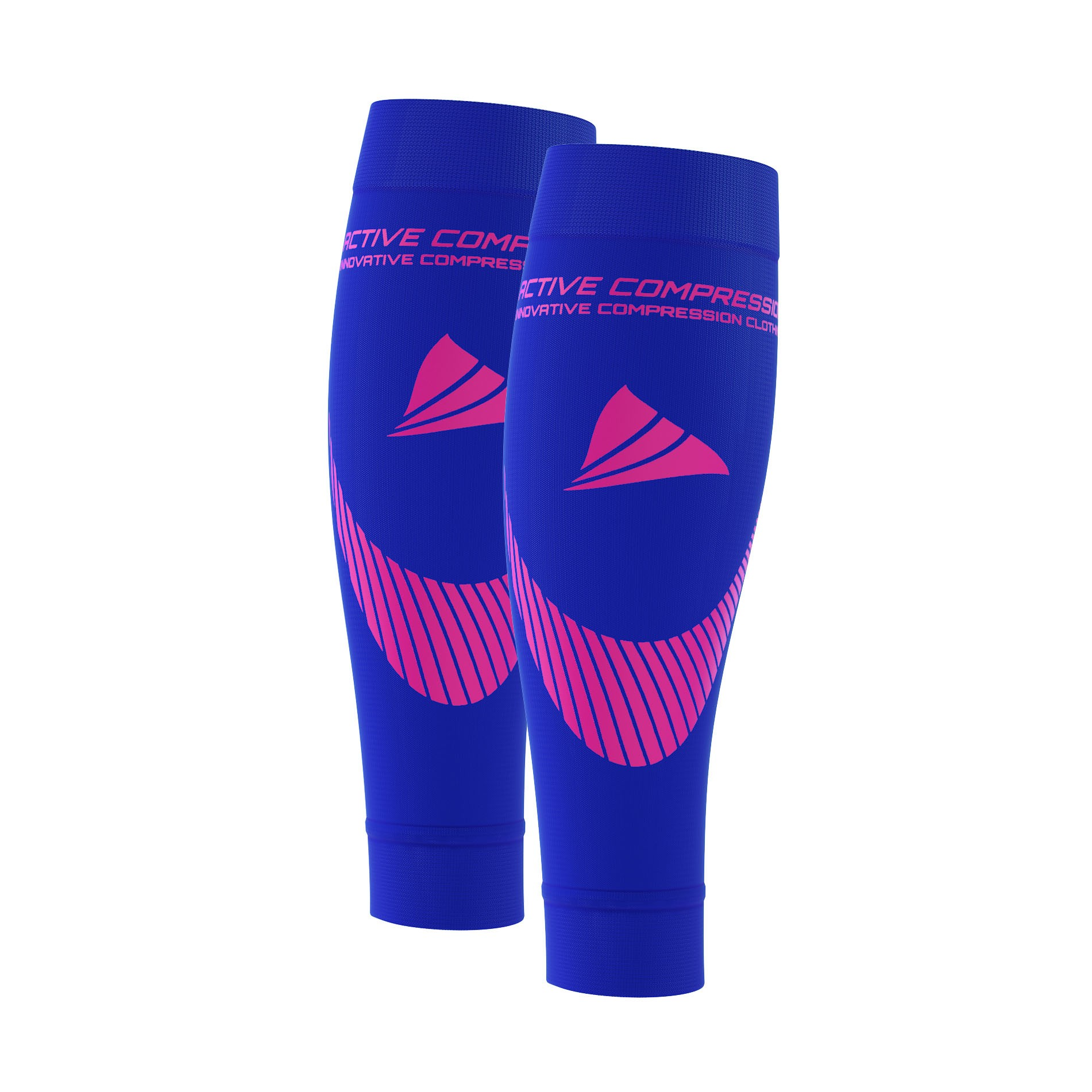 PERFORMANCE CALF SLEEVES – extra strong - blau/pink