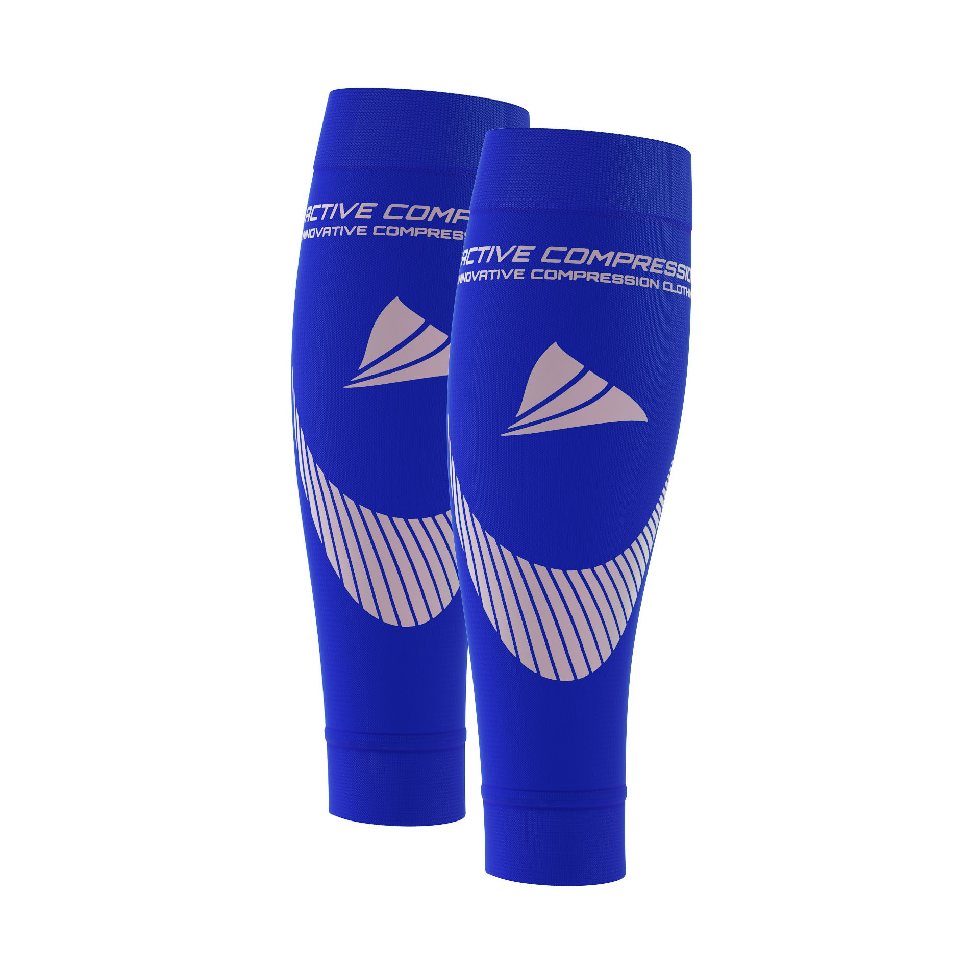 PERFORMANCE CALF SLEEVES – extra strong - blau/silber