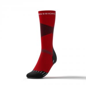 NORDIC RACE SOCKS – rot/schwarz