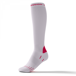 RUNNING BASIC SOCKS – weiß/pink