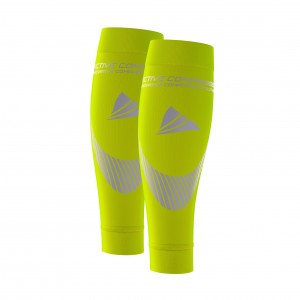 PERFORMANCE CALF SLEEVES – extra strong - gelb/silber