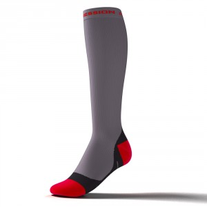 ZANUM PERFORMANCE SOCKS – grau/rot